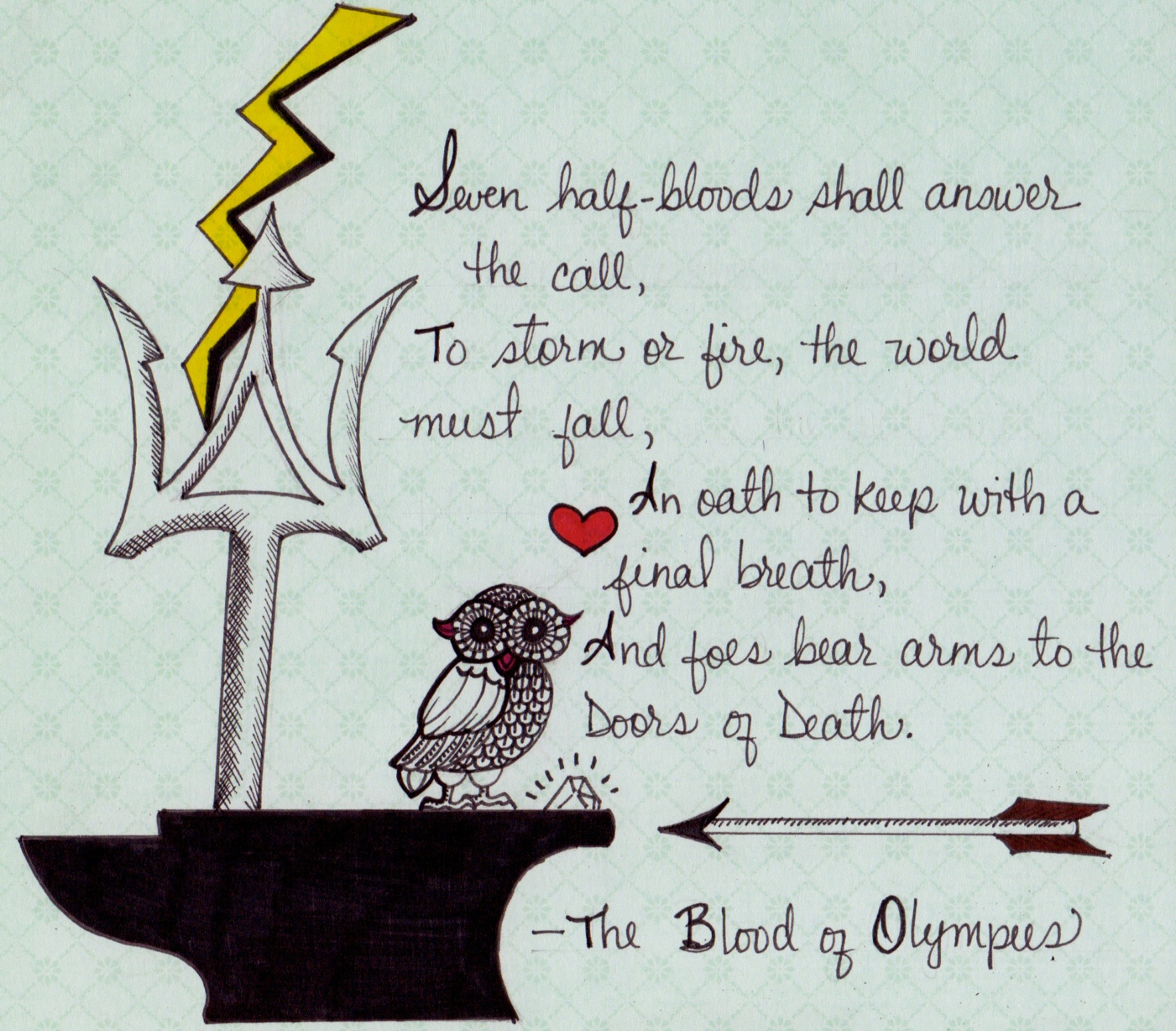 The Blood of Olympus: The Heroes of Olympus, Book 5. Rick Riordan. HC 2014. 1st